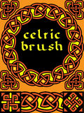Celtic brush for  frame Stock Images