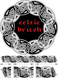 Celtic brush for  frame Stock Photos