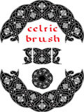 Celtic brush for  frame Royalty Free Stock Image