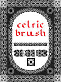 Celtic brush for  frame Royalty Free Stock Photography