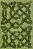 Celtic card or book cover Stock Photo