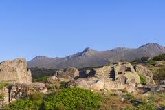 Celtic Castro of Ulaca. Avila, Spain. Stock Image