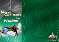 Celtic Christmas Card Stock Image