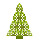 Celtic christmas tree. Green celtic christmas tree isolated Royalty Free Stock Photography