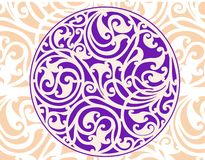 Celtic Circle. Celtic patterns with flower designs in a circle vector illustration