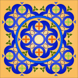 Celtic Circle. Celtic patterns with flower designs in a circle stock illustration