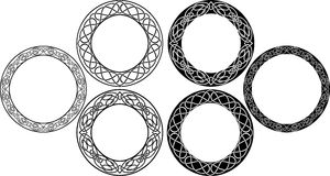 Celtic circle set Royalty Free Stock Images