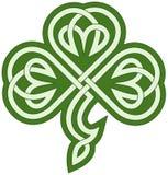 Celtic clover. Vector drawing of a celtic tribal clover stock illustration