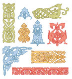 Celtic color ornaments set Stock Photos