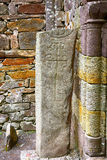 Celtic column, Kilkalmedar, Ireland Royalty Free Stock Photos