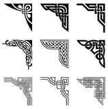 Celtic corners set. Set of ornamental corners in celtic style vector illustration