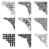 Celtic corners set. Set of ornamental corners in celtic style Stock Illustration