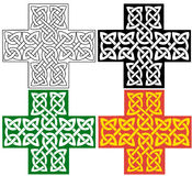 Celtic cross. Cross decorated with celtic knots ornament. The cross comes in four variations Royalty Free Stock Photo