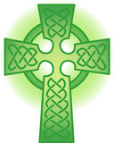 Celtic Cross. Illustration of a celtic cross in green gradient stock illustration