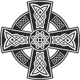 Celtic cross. Vector draw celtic cross with patterns royalty free illustration