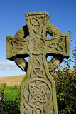 Celtic Cross. An Old Celtic Cross Standing In The English Countryside stock photos