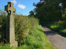 Celtic Cross. An Old Celtic Cross Standing In The English Countryside royalty free stock photo