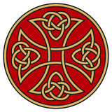 Celtic cross. Symbolic celtic cross with detailed ornaments Stock Images