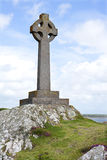 Celtic Cross. Monument, Llanddwyn Island, Anglesey, Wales stock image
