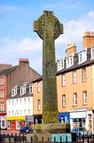 Celtic Cross. Celtic cross in Campbeltown town centre Argyll Scotland stock images