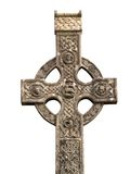 Celtic cross. Old Celtic cross-isolated on white background royalty free stock images