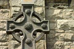 Celtic cross. Celtic cross at church in Howth, Ireland royalty free stock image
