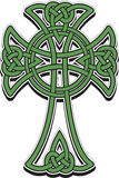 Celtic cross. The Celtic cross from the intertwined lines stock illustration