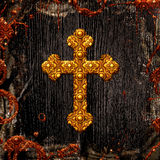 Celtic cross background Stock Images