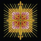 Celtic cross badge Royalty Free Stock Photos