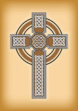 Celtic cross. On brown vintage background Royalty Free Stock Photo