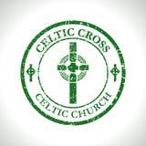 Celtic cross-Celtic Church Stock Photography
