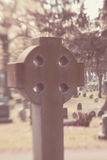 Celtic Cross in Cemetery Royalty Free Stock Photos