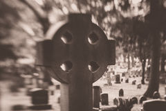 Celtic Cross in Cemetery Royalty Free Stock Image