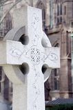 Celtic Cross. A christian cross with celtic engravings Royalty Free Stock Photos