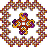 Celtic cross design. A colorful Celtic cross frame Stock Photos