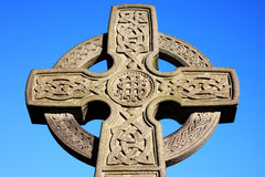 Celtic cross. Found in an old graveyard Royalty Free Stock Photos