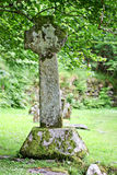 Celtic cross in Glendalough, Ireland Royalty Free Stock Photos