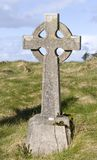 Celtic cross gravestone Royalty Free Stock Image