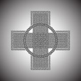 Celtic cross on a gray background vector.  Stock Images