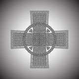 Celtic cross on a gray background vector.  Royalty Free Stock Images