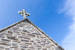 Celtic Cross in Gunwalloe Royalty Free Stock Photos