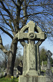 Celtic cross - Holy Rude graveyard - Scotland Stock Images