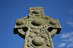 Celtic cross Iona stock photos