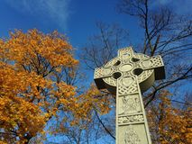 Celtic Cross - Irish Famine Monument. Royalty Free Stock Photos