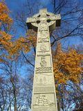Celtic Cross - Irish Famine Monument. Stock Photos