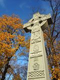 Celtic Cross - Irish Famine Monument. Royalty Free Stock Image