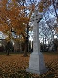 Celtic Cross - Irish Famine Monument. Stock Images