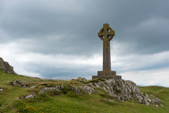The Celtic Cross. On Llanddwyn island on the Newborough National Reserve in Anglesey North Wales stock image