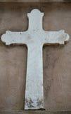 A Celtic Cross. A masonry cross on a historic old church Stock Photos