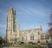 Celtic Cross Memorial and Church, Glastonbury Royalty Free Stock Photos